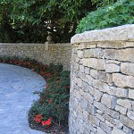 "We carry natural stone for retaining walls.  This is ""regular basalt wallstone."""