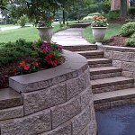 Retaining wall blocks are also great for building stairs.