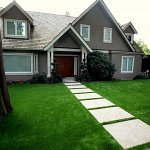 Simple lines accentuated by green space